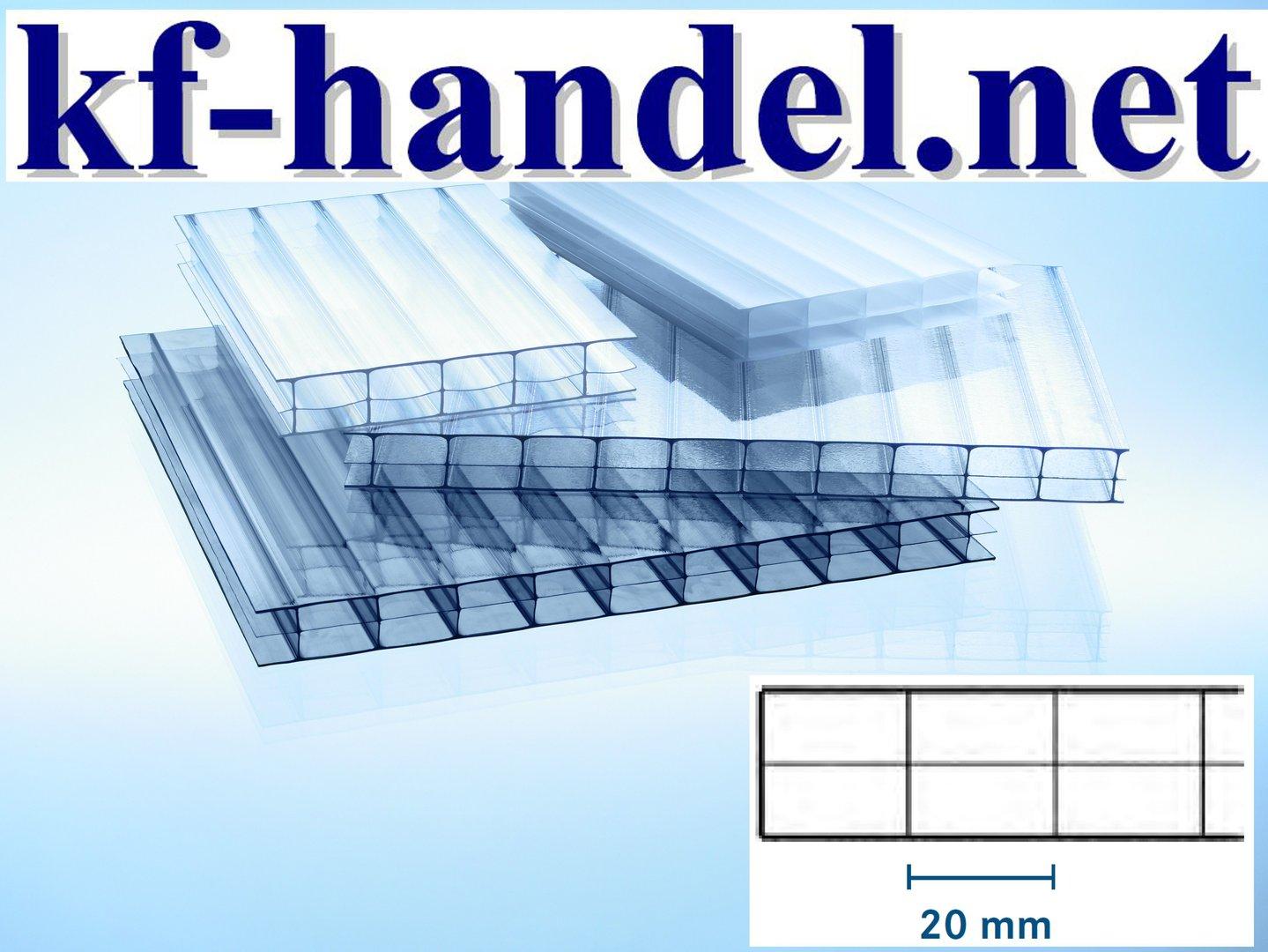 16mm Stegdreifachplatten POLYCARBONAT / Marlon IS - Innenstruktur