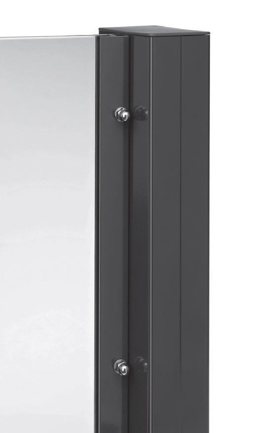 tejeflex alu pfosten 58x92mm 170cm lang ral 7016 anthrazit. Black Bedroom Furniture Sets. Home Design Ideas