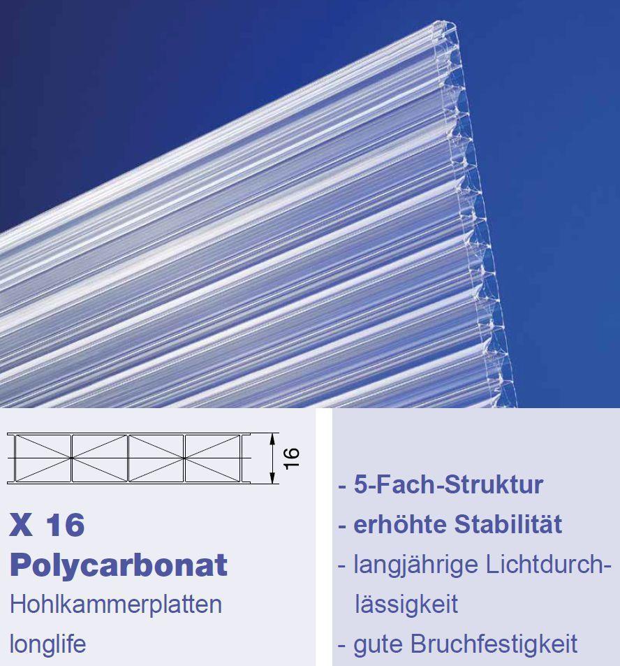 16 mm x star hohlkammerplatten klar typ x16 cross g nstig kaufen. Black Bedroom Furniture Sets. Home Design Ideas