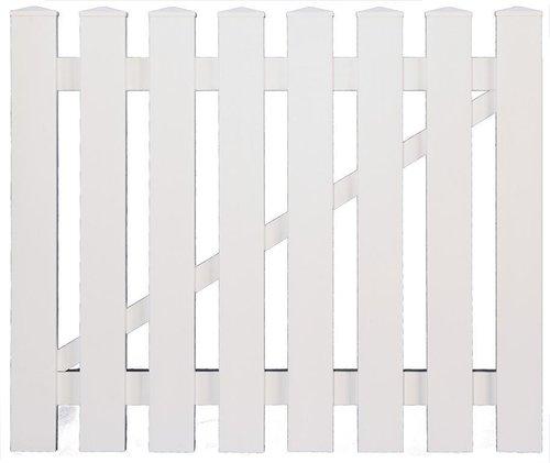 lightline vorgartenz une wei staketz une kunststoff wei g nstig. Black Bedroom Furniture Sets. Home Design Ideas