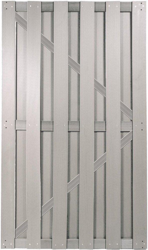 Shanghai Serie Silbergrau Wpc 90x180cm 44975 Tor Wpc Zaun Gunstig