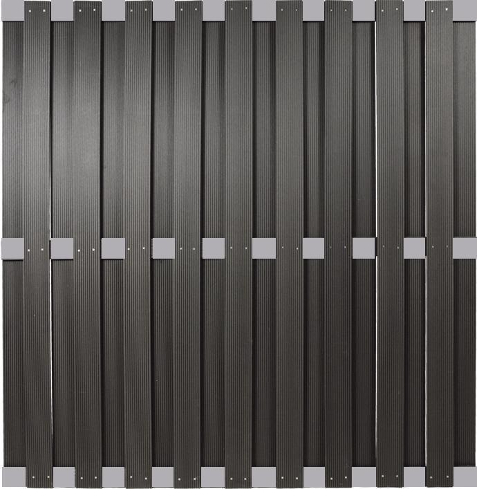 Sehr Kanton-Serie anthrazit Alu WPC 180x180cm 44951 WPC-Sichtschutz ML21